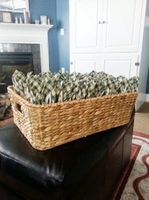 Here are all the utensils wrapped and ready to head out to Brooklyn for the wedding...
