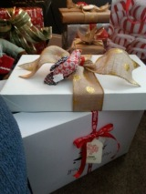 Easy gift wrapping - All you need is a nice box and a real pretty bow.
