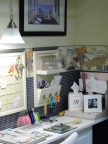 Close up of the work area