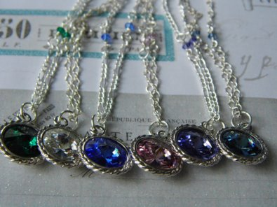 Swarovski crystal birthstone necklace to see go to ~ https://www.etsy.com/listing/201390444/swarovski-birthstone-crystal-necklace