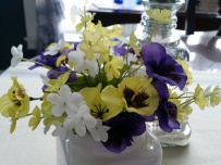 Close up of the spring flowers ~ Each cluster was only $1.99 ~ I purchased 2 clusters.