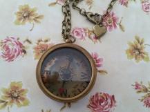 Vintage style Antique Bronze Compass Necklace