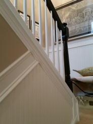 Here is a close up of the wainscoting wallpaper ~