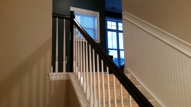 Before the carpet ~ but the difference in the staircase is amazing