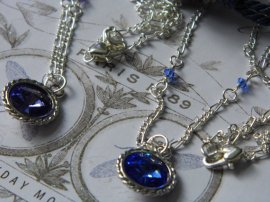 ~ Close up of swarovski crystal birthstone necklace ~