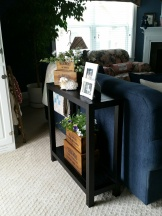 View of the small sofa table ~