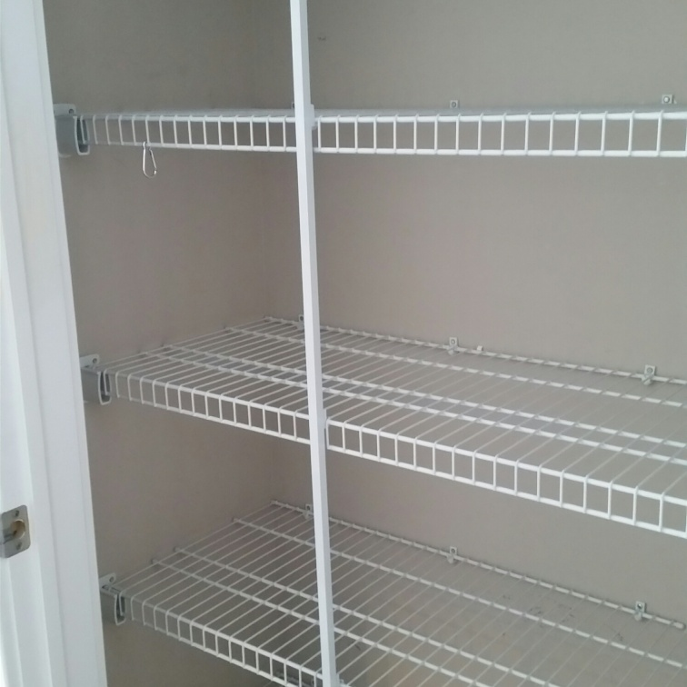 What it looked like with the shelves
