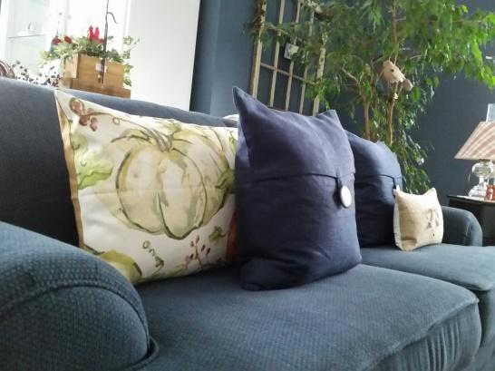 Pumpkin pillow from Pottery Barn