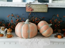 My favorite pumpkins from Christmas tree shop ~ over 15 years old ~