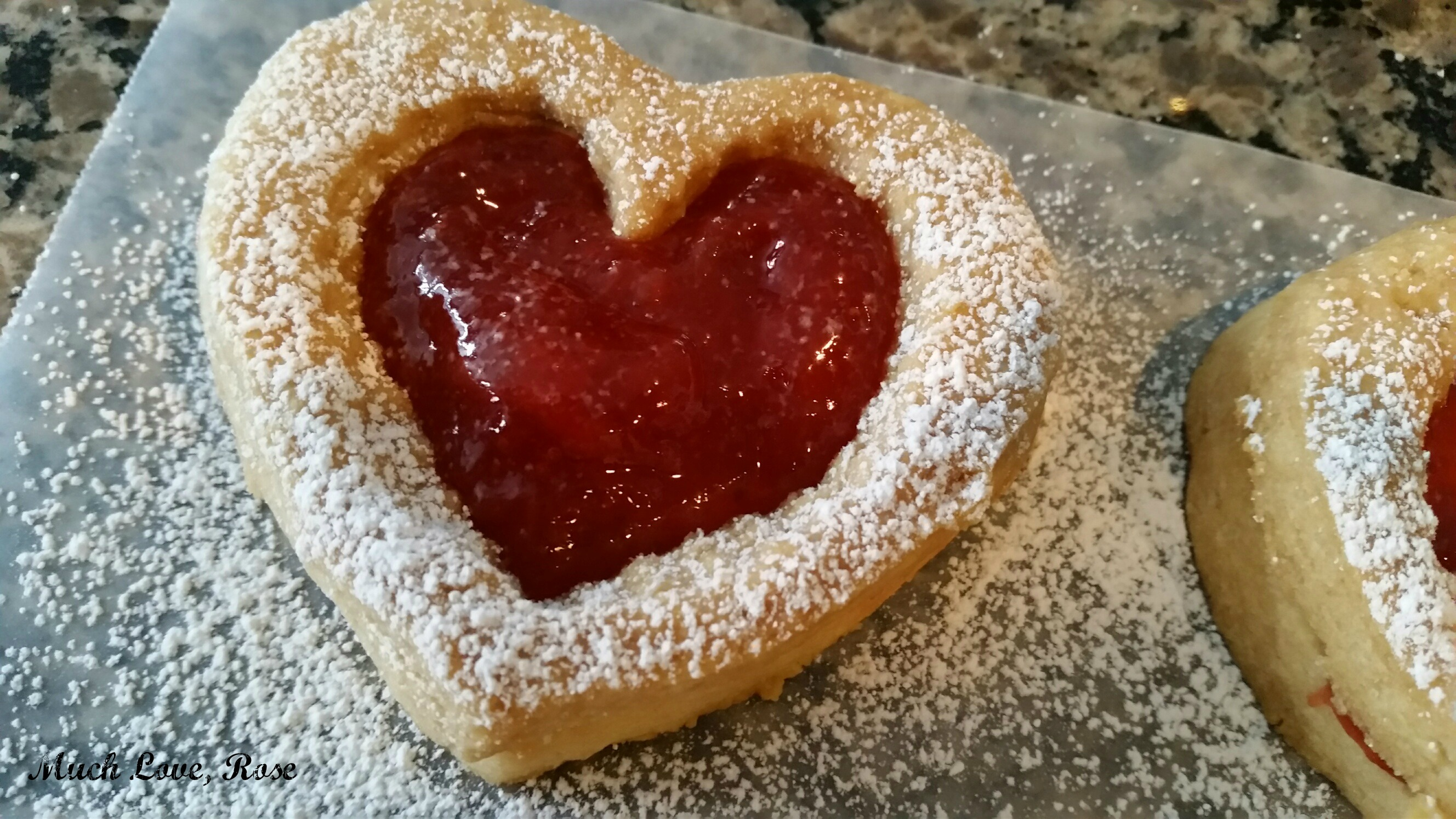 Shortbread Heart Cookies - Much Love, Rose