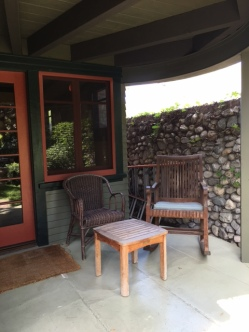Part of the front porch
