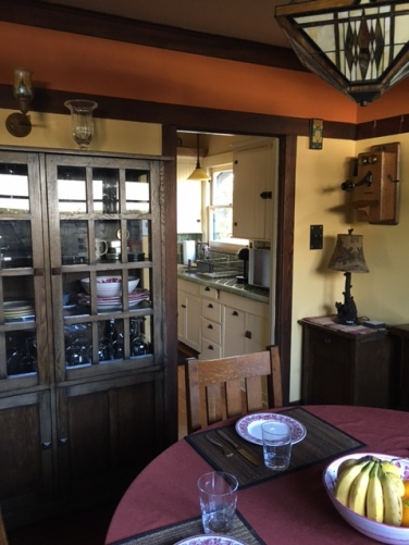 Looking into the kitchen from the dining room