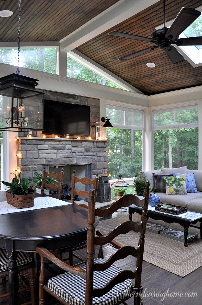 florida room fireplace