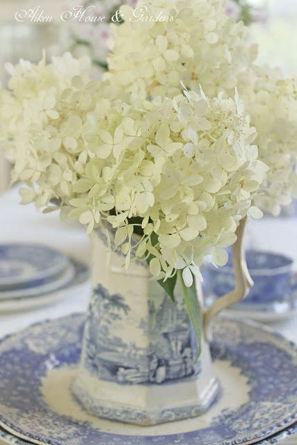 blue & white